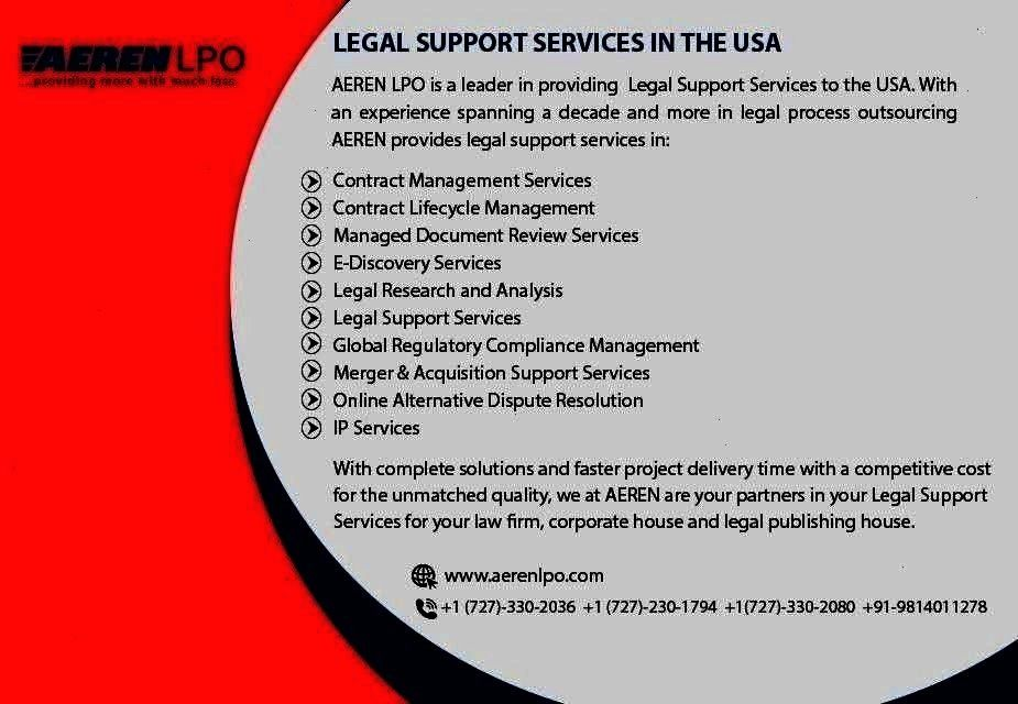 AEREN LPO is a leader in providing to the With an experience spanning a decade and more in legal process outsourcingAEREN LPO is a leader in providing to the With an expe...