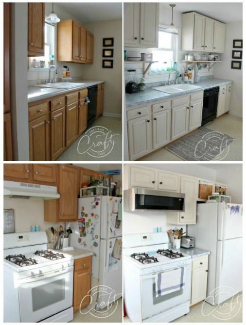 Painted Kitchen Makeover a $350 Kitchen Transformation - Kitchen makeover, Kitchen transformation, Kitchen remodel, Kitchen renovation, Kitchen style, New kitchen cabinets - You won't believe this $350 painted kitchen makeover! I completely transformed our small kitchen, mostly with paint, on a tiny budget