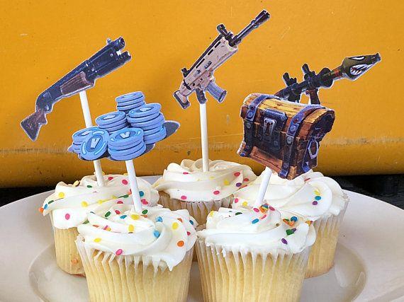 Fortnite Cupcake Toppers Fortnite Birthday Party Fortnite
