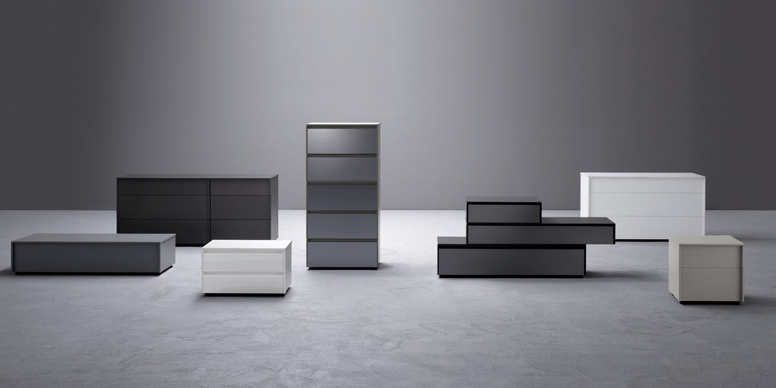 Dado Dressers And Nightstand By Sangiacomo