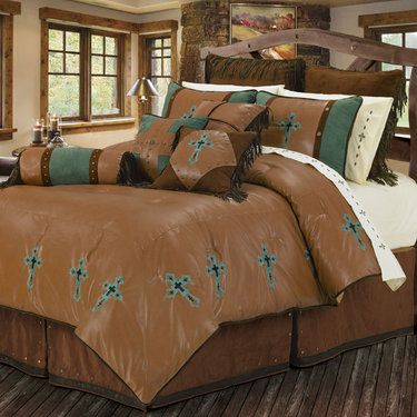 Las Cruces Southwest Comforter Bed Set With Images Western