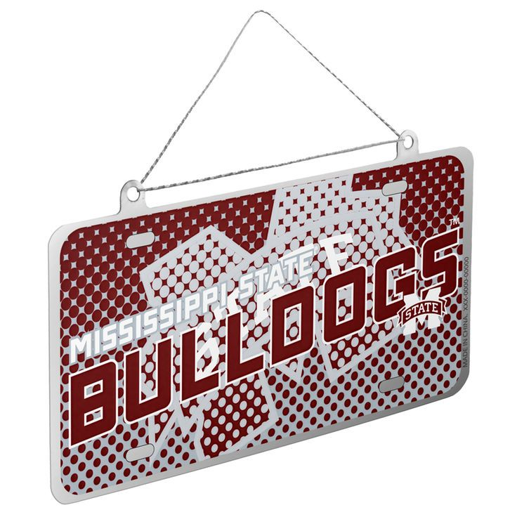 Mississippi State Bulldogs Metal License Plate Ornament - $2.99