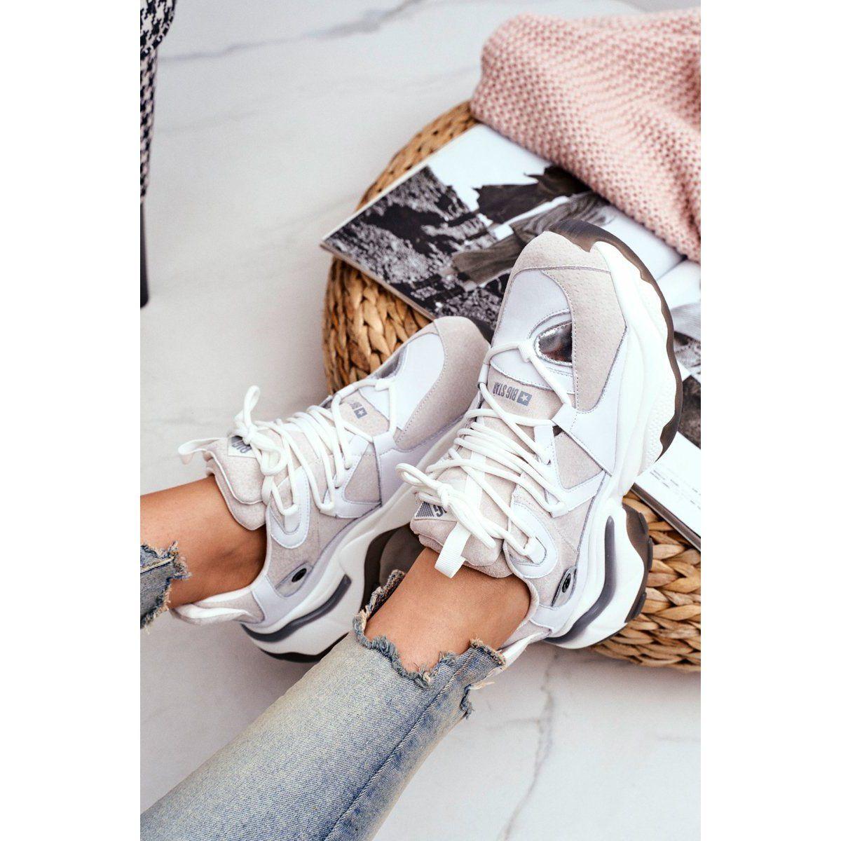 Damskie Sportowe Obuwie Big Star By Daniel Lopez Biale Ff274a576 Saucony Sneaker Sneakers Nike Nike Air Max