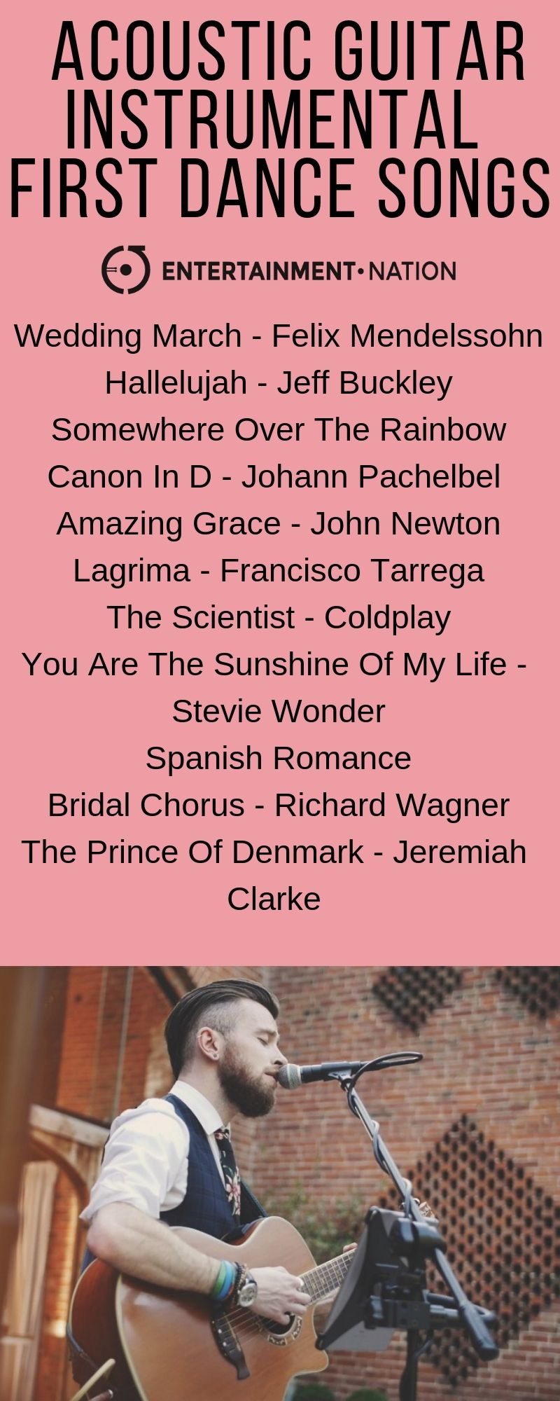 100 Romantic Acoustic Guitar Wedding Ceremony Songs