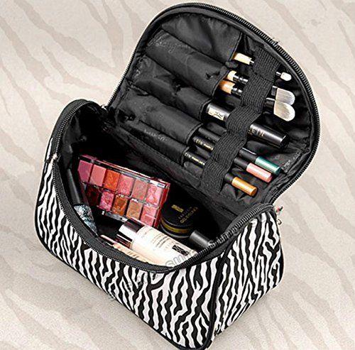 Amazon Zebra Pattern Makeup Bag Under 3 Shipped Makeup Beauty
