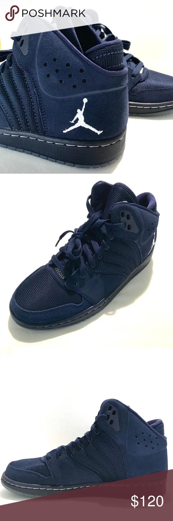 c7464423574c6c Jordan 1 Flight 4 Premium Athletic Shoes Size 8 BRAND NEW NIKE JORDAN 1  FLIGHT 4 PREMIUM MEN S ATHLETIC Suede SHOES NAVY BLUE SIZE 8 Jordan Shoes  Athletic ...