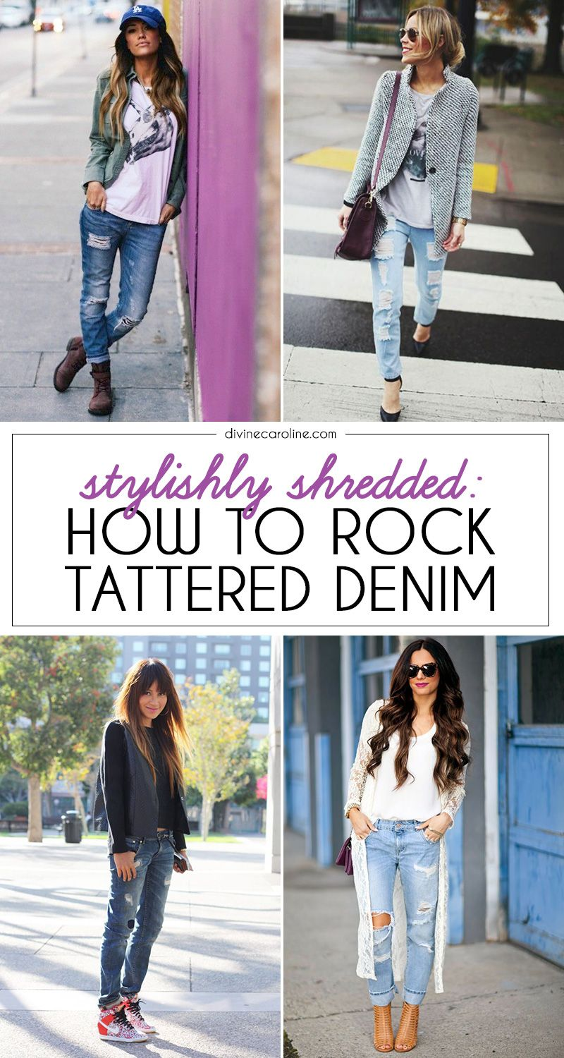 How To Style Distressed Denim, Checks and Classic Stripes