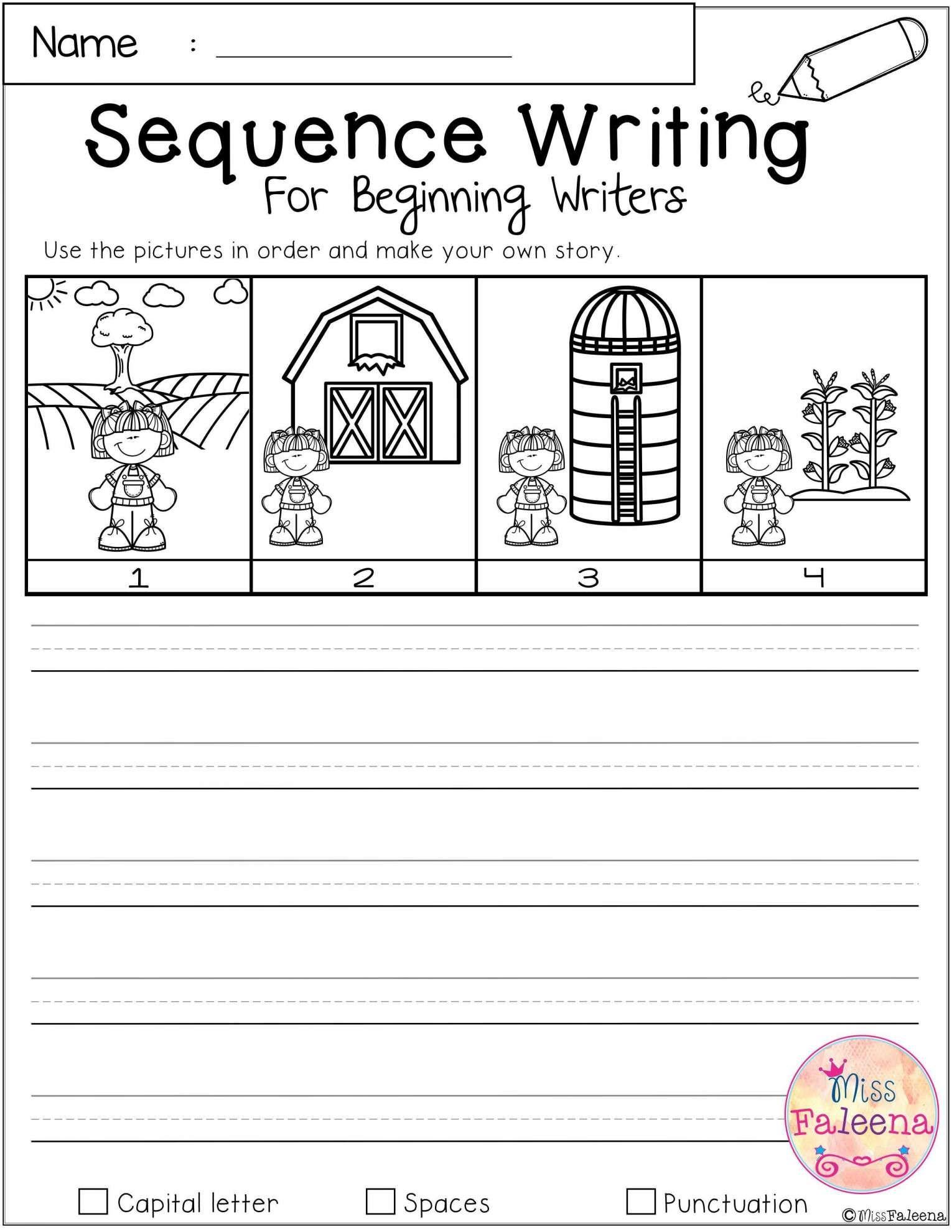 17 Writing Worksheet For Kindergarten Story In 2020 Sequence Writing Kindergarten Writing Sequencing Worksheets