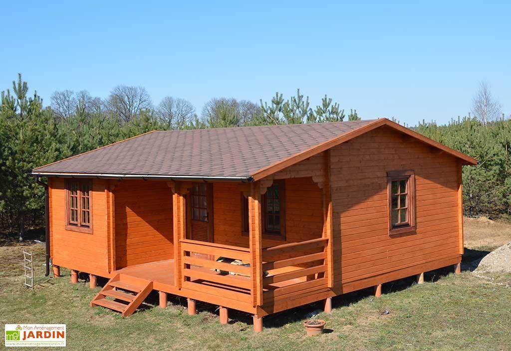 Abri de Jardin en Bois Manitoba 44 mm 8x7m Cabin