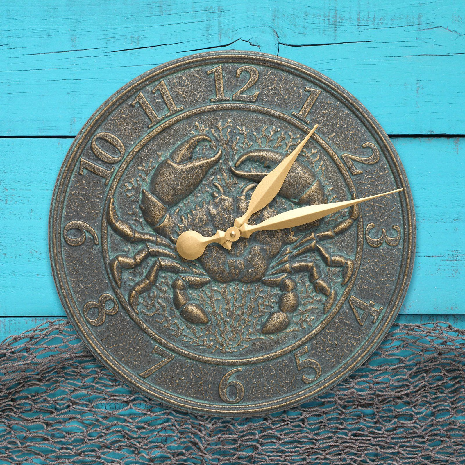 Whitehall Crab Sealife Outdoor Wall Clock 00581 Outdoor Wall