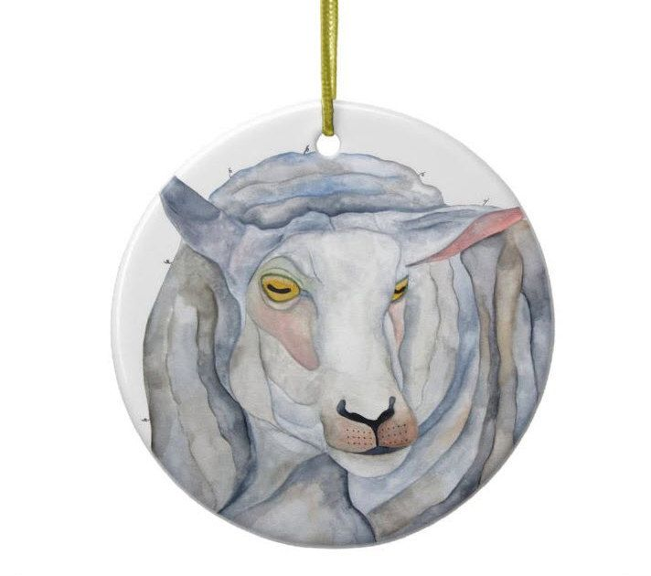 Christmas Ornament, Christmas Tree Decoration, Stocking Filler, Sheep - Grace. $5.00, via Etsy.