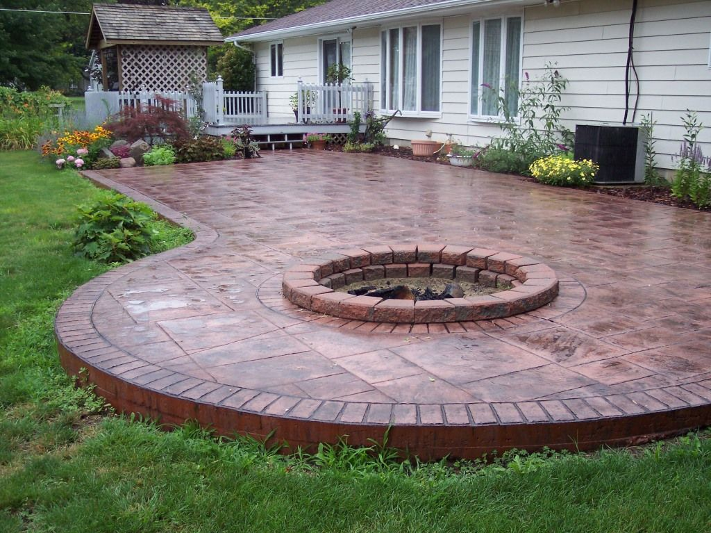 Cement Sidewalk Ideas | Enhance the beauty and value of ... on Square Concrete Patio Ideas  id=58354
