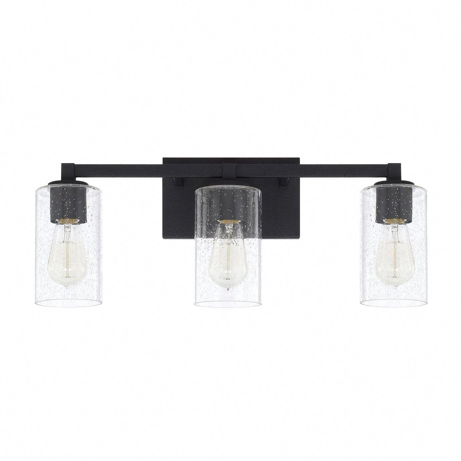 Photo of Capital Lighting Fixture Company Ravenwood Black iron three-light bathroom vanity 119831bi 435 | Bellacor