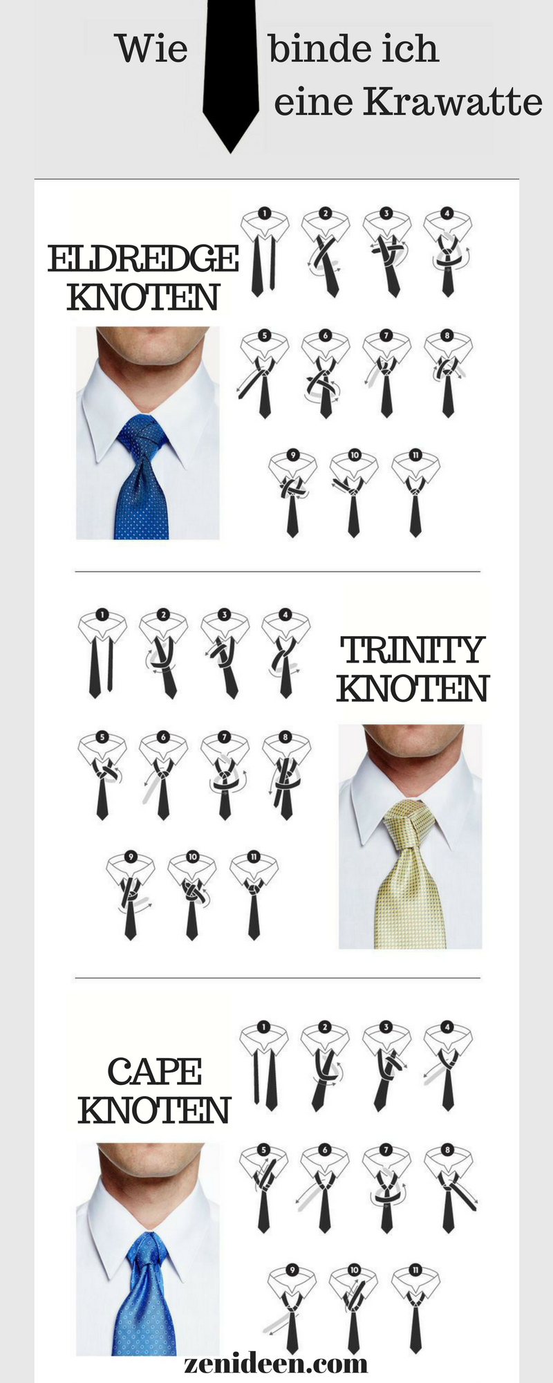 Wie Binde Ich Eine Krawatte Tie Knots Tie Knot Styles Tie A Necktie