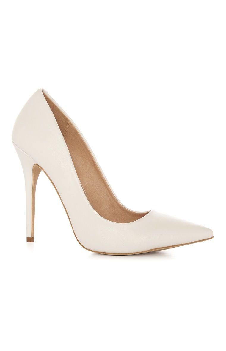 White PU High Stiletto Heel | Stiletto