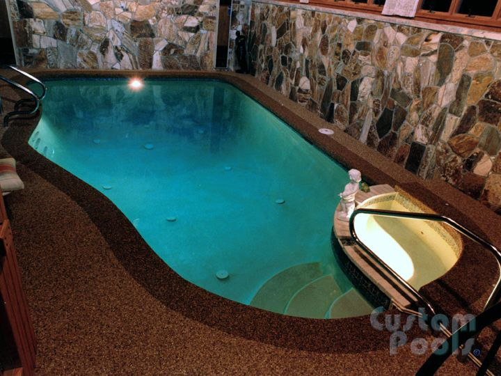 Small indoor pool from custom pools inc awesome for Custom indoor pools
