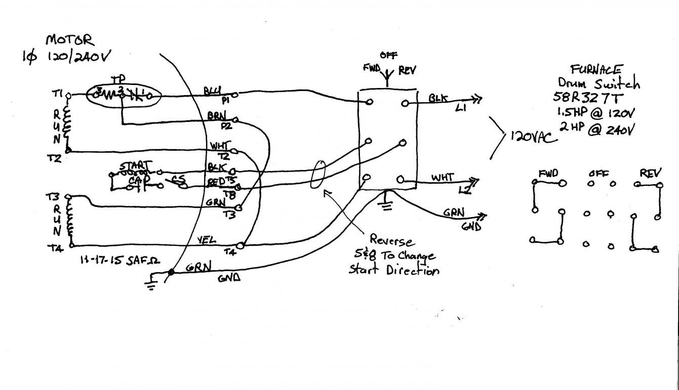 1 Hp Electric Motor Wiring Diagram