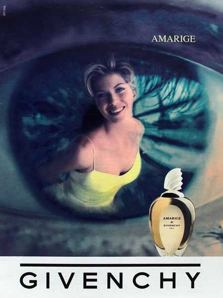 Advert of the perfume Amarige by Hubert (de) Givenchy