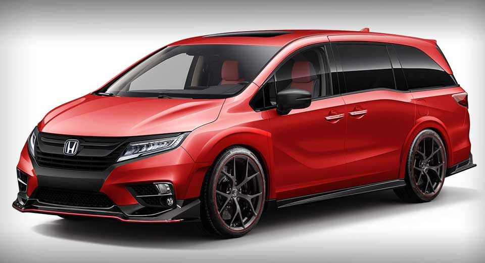 Honda Odyssey Type R Would Make The School Run A Lot More Exciting Carscoops Honda Odyssey Honda Odyssey Touring Mini Van