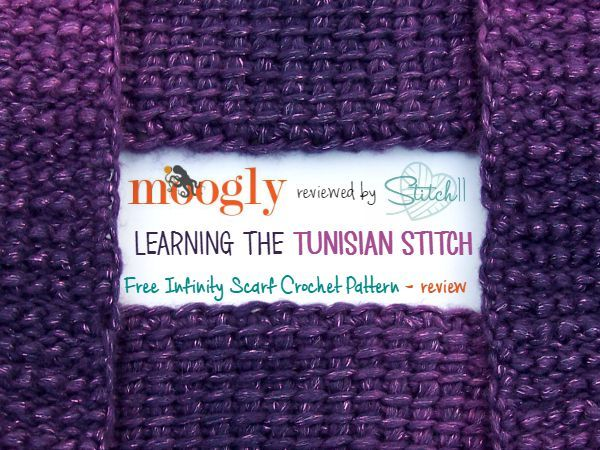 Moogly Reviewed By Stitch60 Learning The Tunisian Free Infinity Simple Tunisian Crochet Scarf Pattern