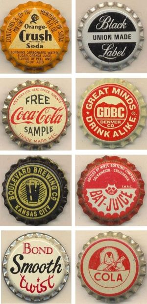 Vintage bottle caps by jimu