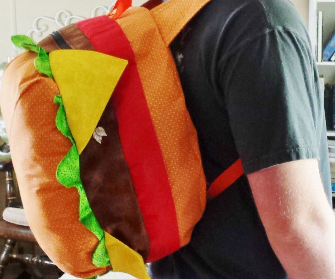 Treat yourself to some fast food without packing on any pounds by toting your  stuff around in this cheeseburger backpack. Apart from its mouth-watering . 2df777875d2e3