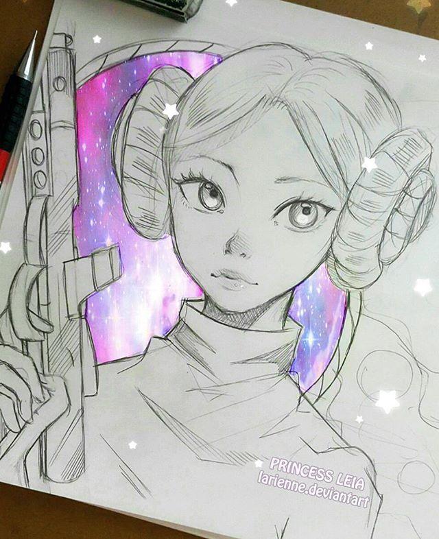 Desenho Princesa Leia