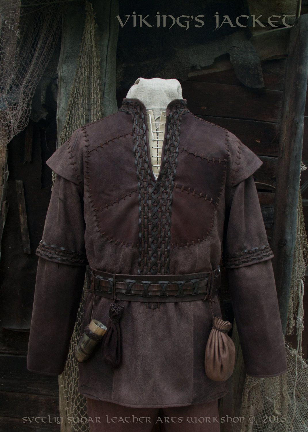 Viking costume larp fur vest 2xl capital investment realty group beverly hills