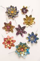 Lily pins - printed aluminium and silver jewellery