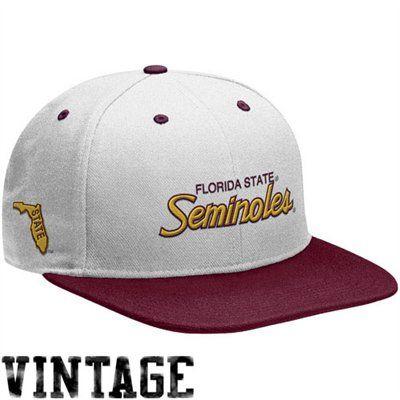 c7787f54a70 Nike Florida State Seminoles (FSU) White-Garnet Vault Snapback Adjustable  Hat