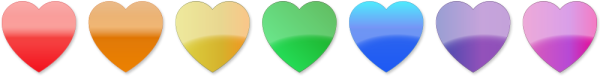 Stock Clip Art - Rainbow Hearts Divider | Rainbow heart ...