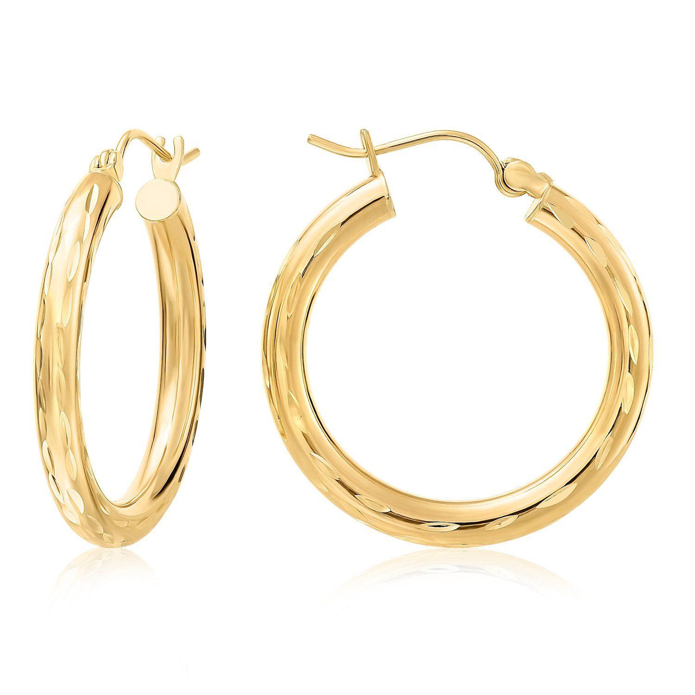 10 Karat Yellow Gold Hoop Earrings