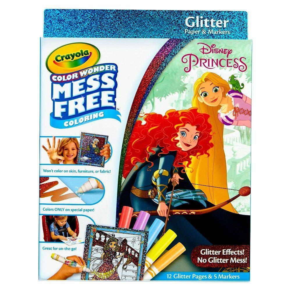 Crayola Color Wonder Shimmer Shine Glitter Art No Mess Markers Mess Free Coloring 17pc Color Wonder Disney Princess Colors Princess Toys