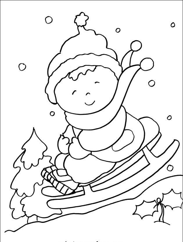 free printable winter coloring page 2 - Winter Coloring Pages Printable Free 2