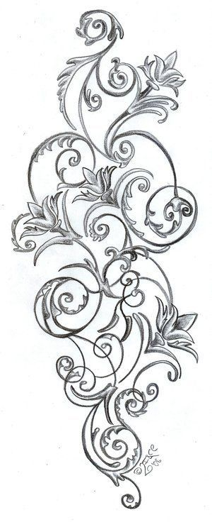 f6638d6a7 Floral Pattern Tattoos Stock Vector Artistic Tattoo Picture! I think I  finally found the tattoo