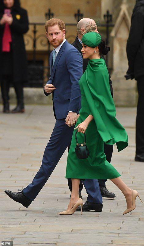 Prince Harry and Meghan Markle arrive for last royal duty