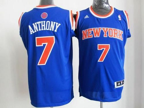 dca816636706 Knicks  7 Carmelo Anthony Blue Road New 2012-13 Season Embroidered NBA  Jersey! Only  25.50USD
