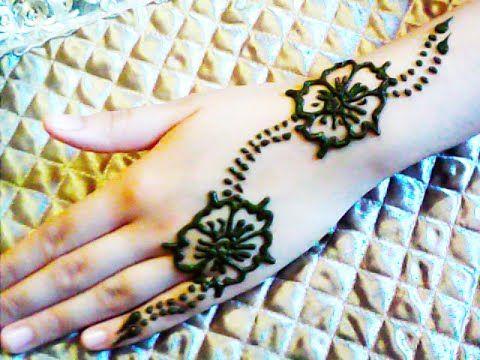 كيفية نقش الحناء سهل و بسيط How To Make Henna Designs Simple Mehndi Designs Henna Hand Tattoo Mehndi Designs