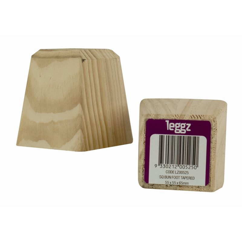 Find Leggz 70mm Square Wooden Tapered Bun Foot Furniture Leg At Bunnings  Warehouse. Visit Your