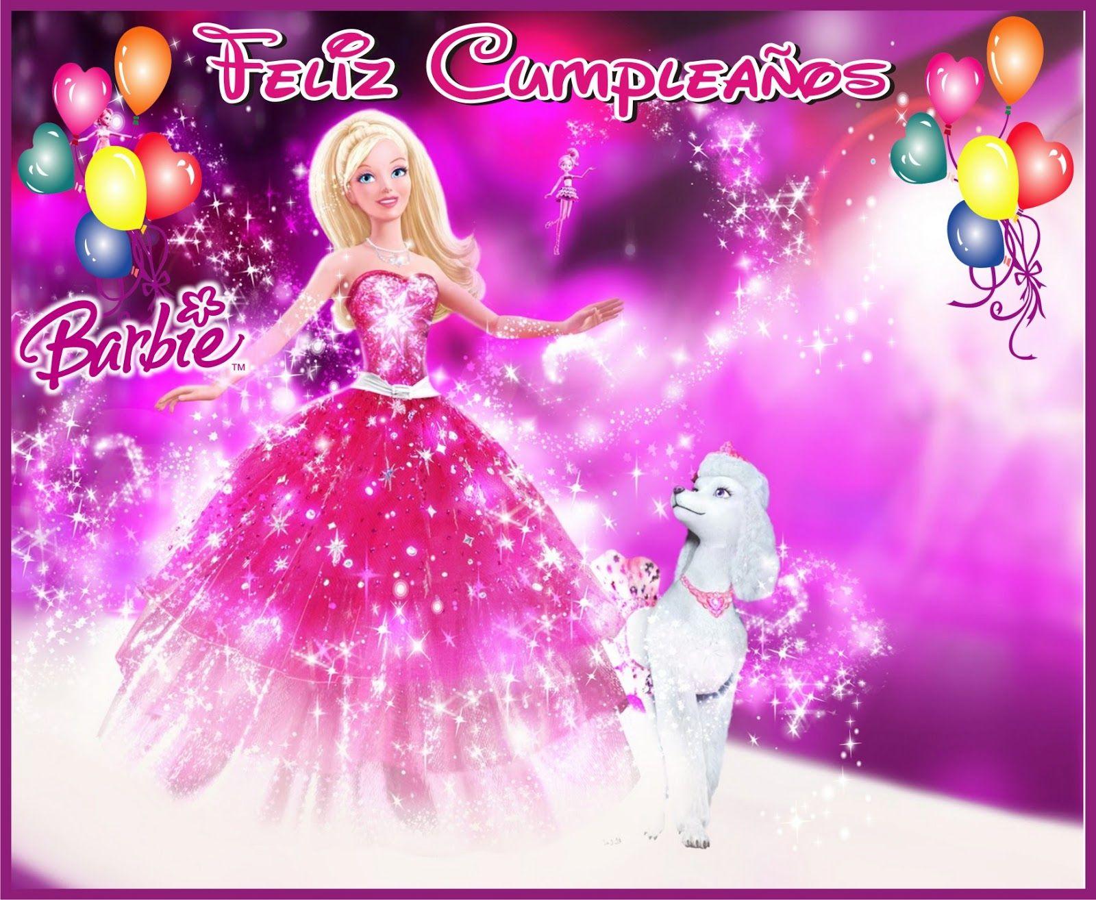 Tarjetas De Cumpleaos Barbie Para Ver Desde El Celular E Imprimir