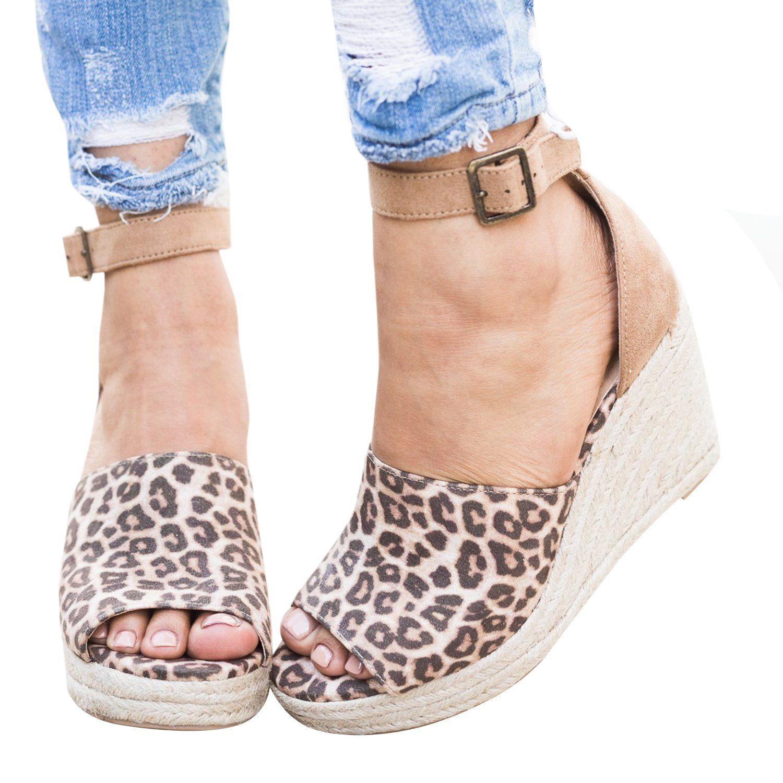 88d8c496134b Dellytop Womens Espadrilles Peep Toe Wedges Cute Ankle Strap Platform  Sandals Summer Shoes. Dellytop Womens Espadrilles Wedge Sexy Platform  Sandals Ankle ...