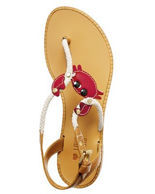 crabby sandels! ooo i want these!