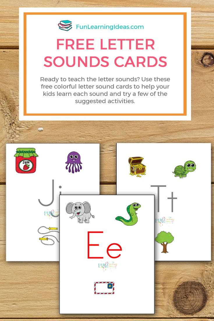 Ready to teach the letter sounds Use these free colorful letter