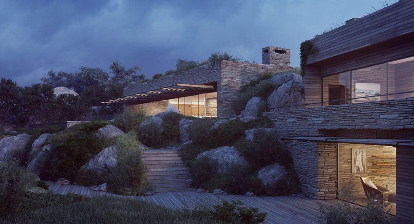 Corsican Mountain View Villas Visualized House Architecture