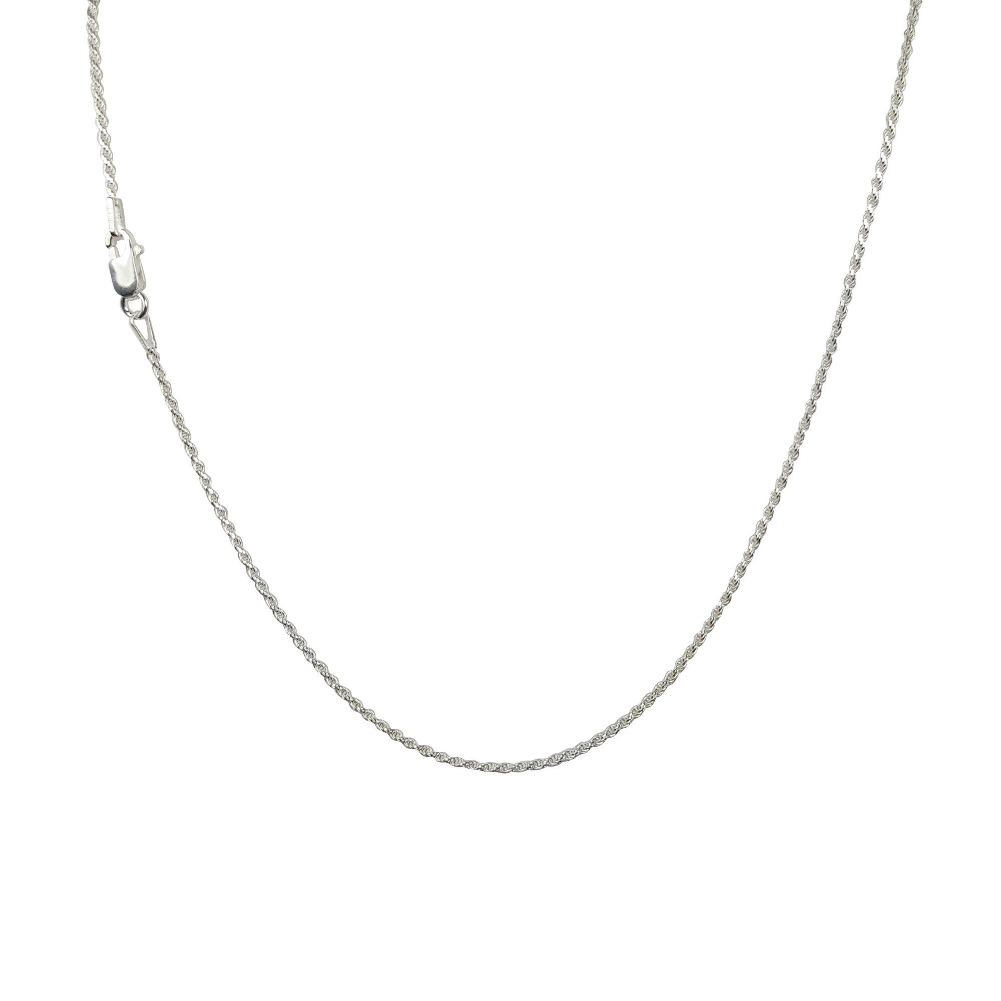 925 Sterling Silver 2MM Rope Chain - Nickel Free Italian Crafted Necklace for Women 100% Moneyback Guarantee - Excellent Quality Thin Lightweight Strong - Best on Amazon - Lobster Claw Clasp 16 inch