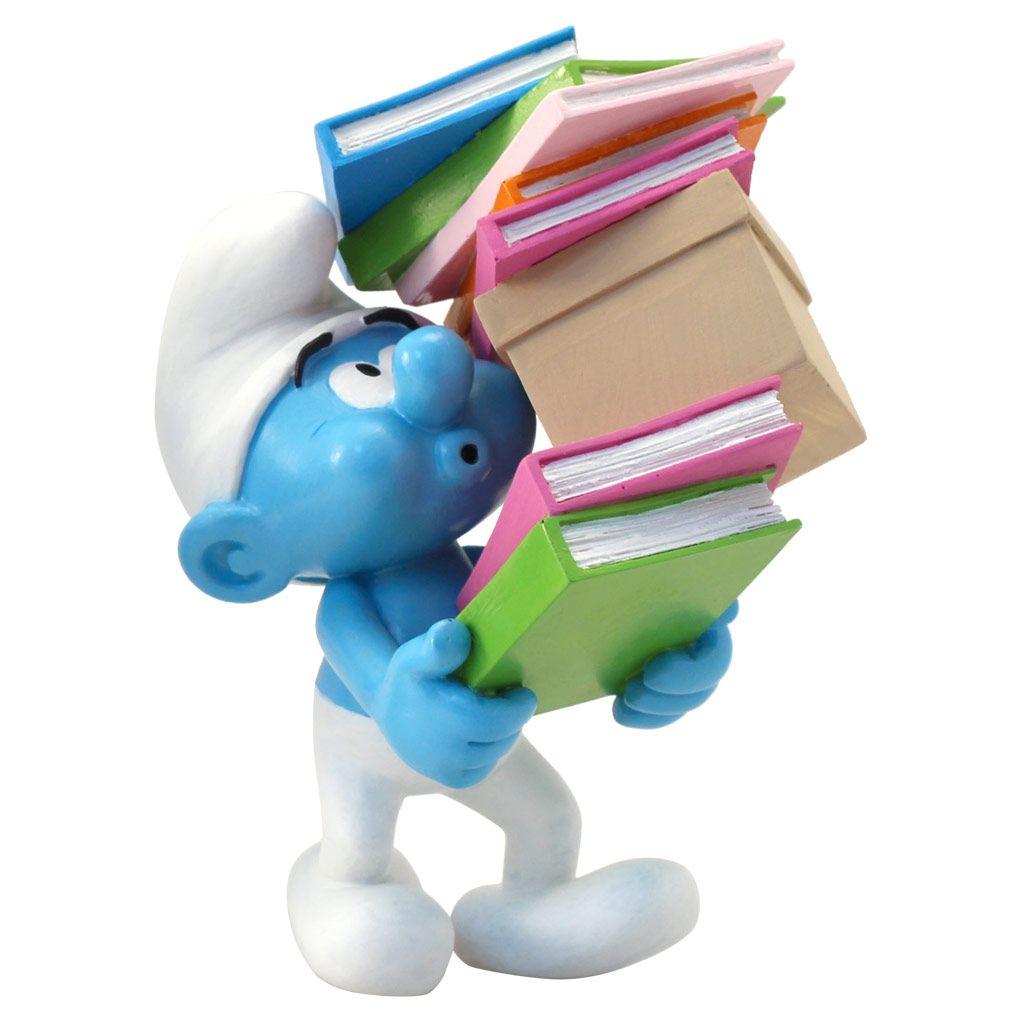 Les schtroumpfs, Pile de livres, Figurine de collection