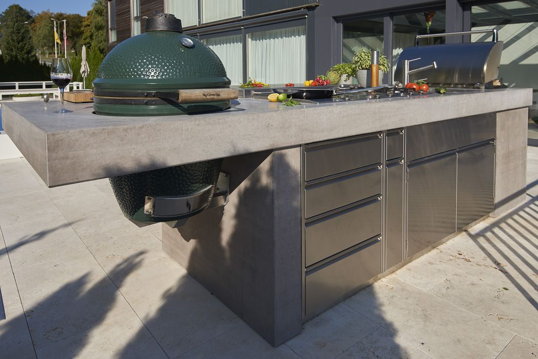 Outdoor kuche beton for Outdoor grill kuche