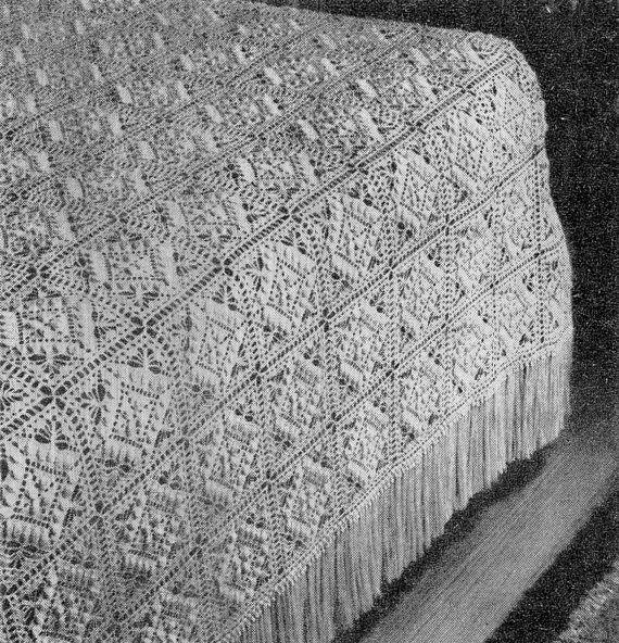 Textured Beauty Bedspread - Vintage Crochet Pattern - Blanket ...
