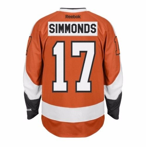 Wayne Simmonds Philadelphia Flyers NHL Reebok Men s Orange 2016-17  17  Premier Player Jersey (XL) b70109547