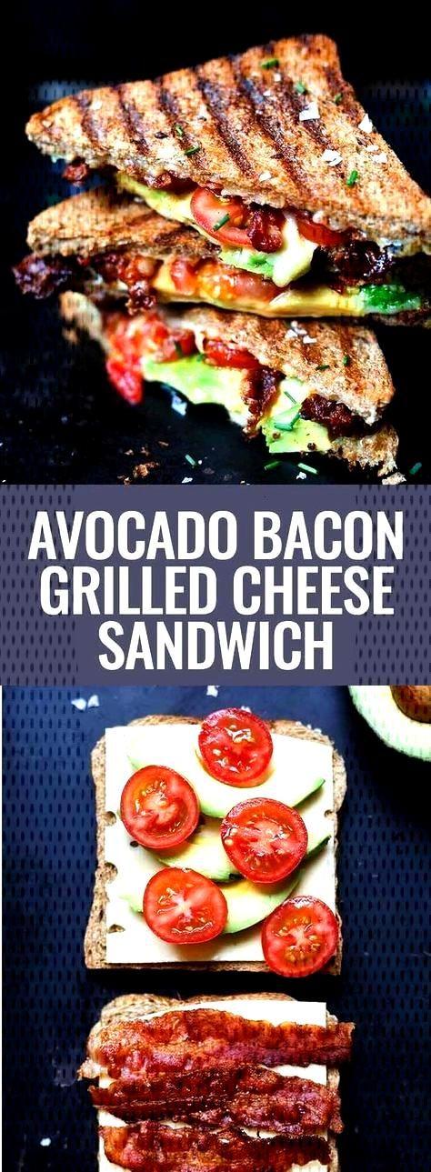 Sandwich au fromage grillé au bacon et à l'avocat grillé r ... San...